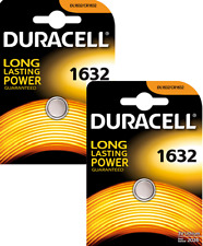 2X Duracell CR1632 DL1632 Lithium 3V Coin Cell  Fee post UK
