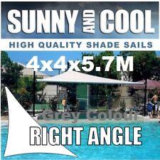 HEAVY DUTY SHADE SAIL-4x4x5.7M RIGHT- ANGLE TRIANGLE IN GREY,4mx4mx5.7m