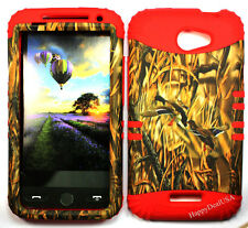 KoolKase Hybrid Silicone Cover Case for HTC One X S720e - Camo Mossy Duck