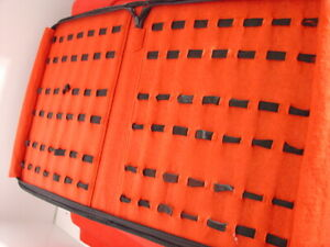 """Unbranded 13""""x 10.5"""" 42 knife Collectors Collection Folder Roll Holds 42 Knives"""