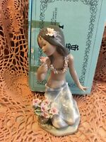 Lladro 1479 In A Tropical Garden RETIRED! Original Box! Chipped Flowers! L@@K!