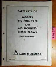 Allis Chalmers 410 Pull Type Amp 610 Mounted Chisel Plow 7 10 13 16 Parts Manual