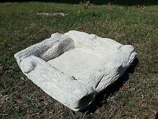 Square log replacement Bird bath bowl stone dish top garden ornament