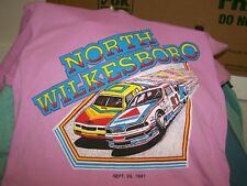 NORTH WILKESBORO RACING T-SHIRT  SIZE L 42-44  DATED SEPT. 29, 1991 HANES