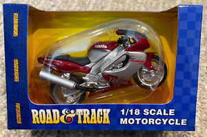 Road and Track Maisto 1:18 Scale Yamaha YZF 1000 Motorcycle NIB