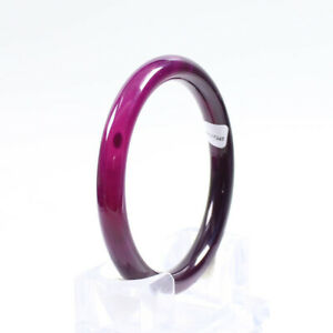 69mm Certified Natural Agate Chalcedony Lavender purple Jade Bangle j4068