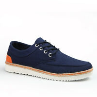 Mens Casual Walking Sneakers Fashion Lace Up Flats Comfortable Low-Top Shoes