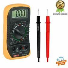 Multimètre Voltmètre Numérique Portable Ampèremètre CA CC Ohmmètre LCD Testeur