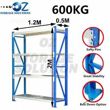Longspan Shelving Warehouse Racking Garage Storage Shelves 2M x 1.2M x 0.5M