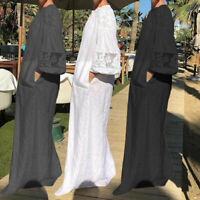 Womens Oversized Loose Long Sleeve Dress Evening Party Cocktail Long Maxi Dress