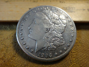 1896-S United States Morgan Silver Dollar $1 Cleaned - No Reserve - Free S&H USA
