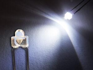10 Stück LED 1,8mm kalt weiß superhell Mini Miniatur Leuchtdioden