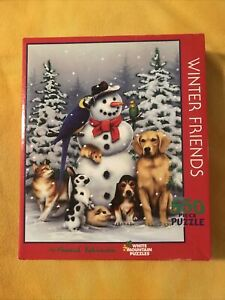 White Mountain Puzzles Winter Friends Jigsaw Puzzle - 550 piece New Sealed Box