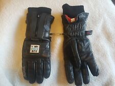Frank Thomas Leather Subzero Aqua Motorcycle Gloves Ladies Medium