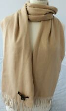 STEWART of SCOTLAND 100% Soft Merino Wool Scarf Burly Wood Wrap $135 NEW