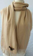 STEWART of SCOTLAND 100% Soft Merino Wool Scarf Burly Wood Wrap $135 NEW