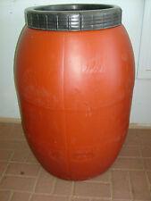 50 Gallon Screw On Lid Plain Plastic Food Grade Barrel-Storage