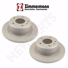 For BMW E30 M3 2.3L L4 Set of Left & Right Rear Disc Brake Rotors Zimmermann