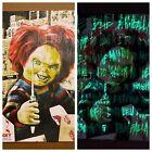 Child's Play Chucky Doll Glows Dark!' Movie Art Print Poster Mondo Kyle Crawford