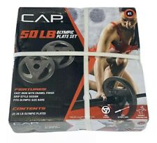 CAP 2 25 Pounds lbs 2'' Olympic Weight Plate Set Barbell Weights 50 lbs Total