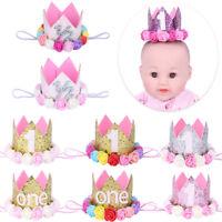 Babyschmuck 1 jahr Geburtstag Baby Mädchen Jungen Haarschmuck Stirnband Krone