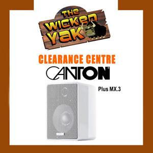 CANTON PLUS MX.3 70 Watt Universal Mini Speaker WHITE FREE SHIPPING- NEW