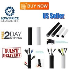 Cable Management Sleeves Neoprene Organizer Wrap Flexible Cord Cover Wire Hider