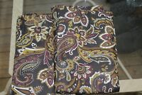 Brown Paisley Floral Pillow Shams - Ralph Lauren ? Set of 2