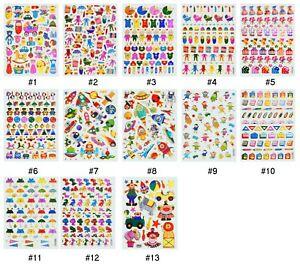 #701S Shiny Baby Toy Space Cartoon Reward Craft Card Kids Children Stickers