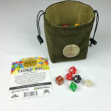 Third Die Dice Bags Reversible, Stands Open, Closes Tight - Celtic Knot Medal