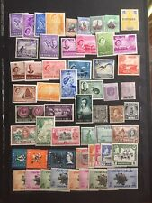British Territories Lot Of Vintage Mint Stamps Hinged And Hinge Remnant