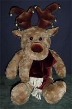 """29"""" Reindeer / Moose  Plush Windsor Collection for Sears w Jingle Bell Antlers!"""