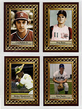 Lot of 4: Cal Ripken Pete Rose Rickey Henderson Ron Santo Fan Club serial # /300