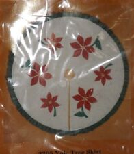 The Creative Circle #2305 Christmas Embroidery/Applique Kit YULE TREE SKIRT 1983