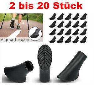 2-20 Stück Walking Asphaltpads Gummipuffer Ersatzfüße für Nordic Walking Stöcke