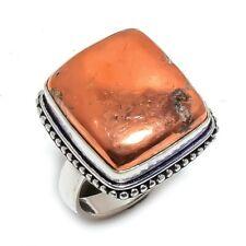 Copper Nugget Gemstone Handmade Silver Fashion Jewelry Ring Size 8 SR3987