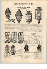 1900's PAPER AD Dietz Sperm Whale Oil Lamp Lantern Railroad Bridge Signal Mill