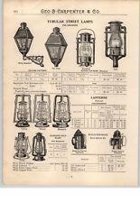 1900's Paper Ad Dietz Sperm Whale Oil Lamp Lantern Railroad Bridge Signal Mill