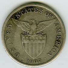 ☆ US PHILIPPINES 1907 ☆ 1 PESO • SILVER .800 • SAN FRANCISCO MINT☆ KM#172 ☆C5845