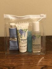Crabtree & Evelyn Wisteria Set - perfume, hand therapy, body cream, and bath gel