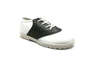 NEW BLACK & WHITE Saddle Shoes PITTER PATTER Boys/Girls Infant/Toddler Size 1-10