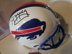 Jim Kelly Autographed Buffalo Bills Full Size Riddell Replica Helmet JSA-COA 🔥