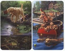 Puppy Dog My Furry Pet SINGLE Swap Playing Cards PAIR #10