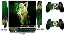 Babe 208 Skin Sticker for PS3 PlayStation 3 Slim and 2 controller skins