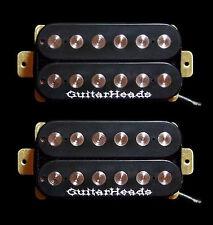 Guitar Parts GUITARHEADS PICKUPS FAT POLE HUMBUCKER - Bridge Neck SET 2 - BLACK