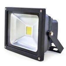 Lloytron L8512 Long Life 20w LED Floodlight Mains Night Lamp Security Black New