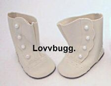 Ivory Victorian Boots for 18 inch Doll Shoes American Girl Rebecca Most Variety