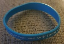 """BRAND NEW""""TOGETHER WE WILL BEAT CANCER""""ONE SIZE WBAND (SAME DAY DSPCH FREE POST)"""