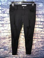 Pacsun Womens Black Distressed The Perfect Fit Jegging Size 24🔥Free Shipping