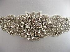 Rhinestone Applique Wedding Sash Ivory Bridal Sash Belt Dress  Accessories Mimi